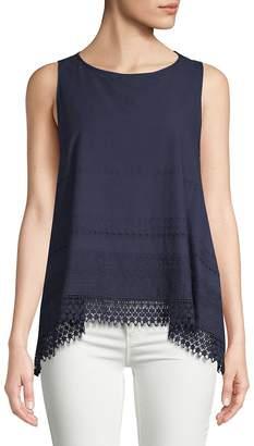 Max Studio Women's Crochet Lace Tank Top