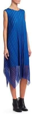 Pleats Please Issey Miyake Stripe Shadow Shift Dress