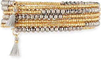 Panacea Hematite Tassel Coil Bracelet