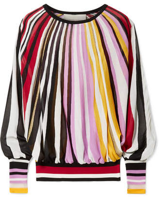 Carolina Herrera Striped Knitted Sweater - Pink