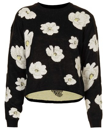 Topshop Daisy Jacquard Sweater