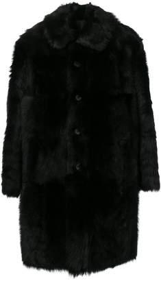 Prada reversible faux fur coat