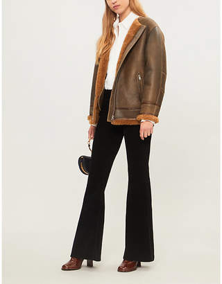Etoile Isabel Marant Axton shearling and leather jacket