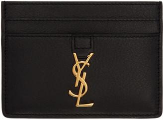 Saint Laurent Black Monogram Card Holder $225 thestylecure.com