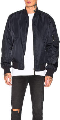 Yves Salomon Nylon Bomber with Sheared Rabbit