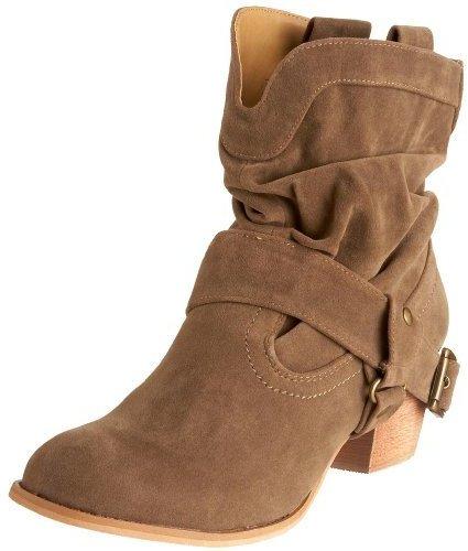Miss Me Women's Janice-6 Buckle Western Heel Boot