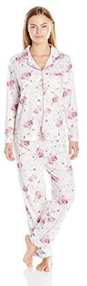 Karen Neuburger Women's Petite Long-Sleeve Girlfriend Pajama Set PJ