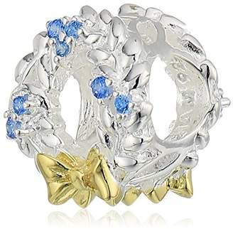 Swarovski Chamilia frosty wreath - light blue zirconia with gold electroplating charm