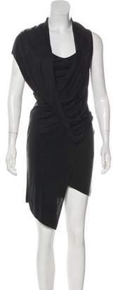 Helmut Lang Drape Asymmetrical Midi Dress