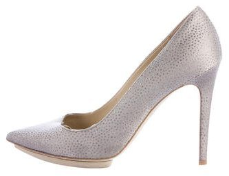 Stella McCartney Crystal-Embellished Pointed-Toe Pumps