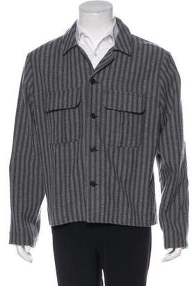 Billy Reid Striped Button-Up Jacket