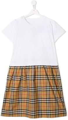 Burberry TEEN check skirt dress