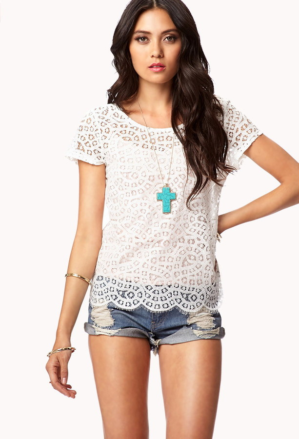 Forever 21 Essential Lace Top
