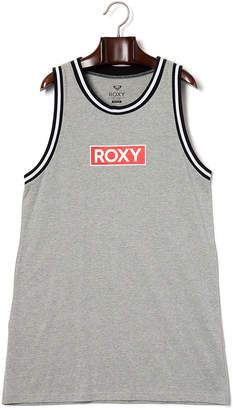 Roxy (ロキシー) - ROXY TANK DRESS ロゴプリント ノースリーブ ドレス グレー m