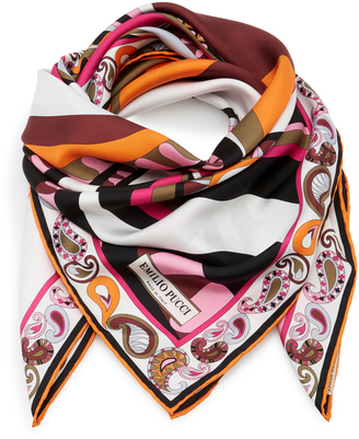 Emilio Pucci Printed Silk-Twill Scarf $330 thestylecure.com