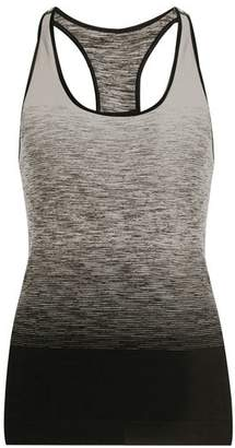 Pepper & Mayne - Racer Back Ombre Compression Performance Tank Top - Womens - Black White