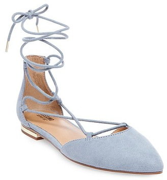Mossimo Supply Co. Women's Gretel d'Orsay Ghillie Pointed Toe Lace Up Ballet Flats - Mossimo Supply Co. $24.99 thestylecure.com