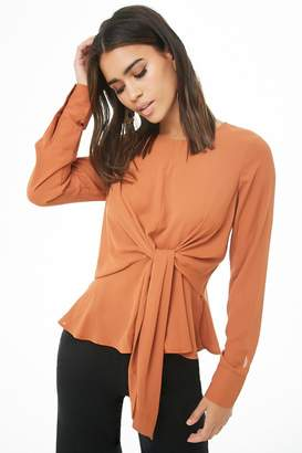 Forever 21 Chiffon Tie-Front Top
