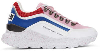 MSGM White Never Look Back Sneakers