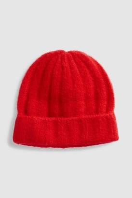 84927fd00887d at Next · Next Womens Red Ribbed Beanie