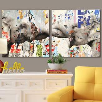 Bronx Ivy 'Saddle Ink Elephant VI' Graphic Art Print on Canvas
