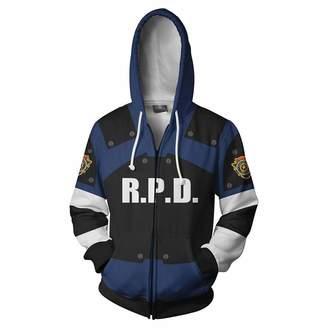 Leon ZXTY Resident Evil Unisex Sweatshirt Cosplay Kennedy Hoodies Jacket Zipper