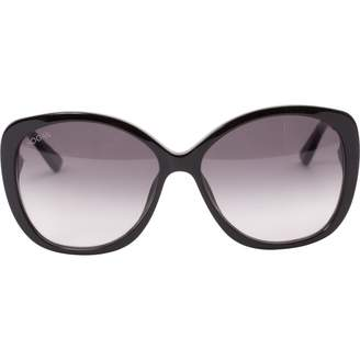 Hogan Black Plastic Sunglasses