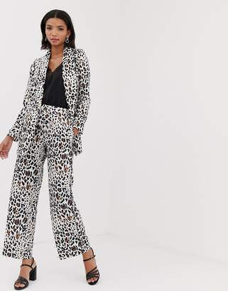 Helene Berman palazzo pants in abstract animal print