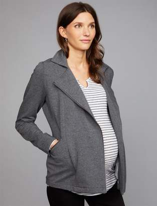 A Pea in the Pod Zipper Fleece Maternity Jacket