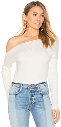 MAJORELLE x REVOLVE Twister Sweater in White $148 thestylecure.com