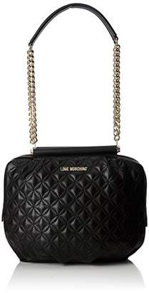 Love Moschino Borsa Quilted Nappa Pu Nero Gal.oro, Women's Shoulder Bag,10x23x30 cm (B x H T)