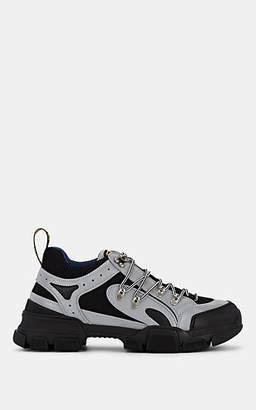 Gucci Men's Flashtrek Tech-Fabric & Mesh Sneakers - Gray