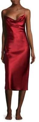 Fleur Du Mal Cowlneck Silk Nightgown