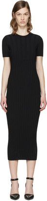Helmut Lang Black Ribbed Dress $575 thestylecure.com