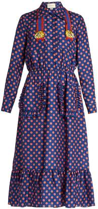 GUCCI Polka-dot print silk dress $2,900 thestylecure.com