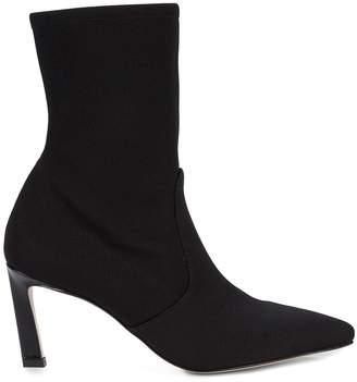Stuart Weitzman Bernadette Point-Toe Sock Booties