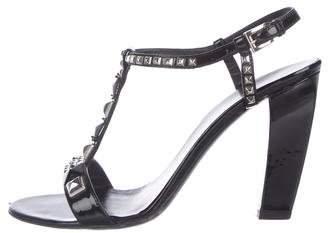 Prada Patent Leather Jewel Sandals