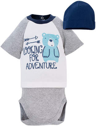 Gerber 2-pc. Bodysuit and Hat Set-Baby Boys
