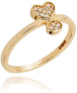 Lark & Berry Exclamation Diamond Pave Ring Yellow Gold