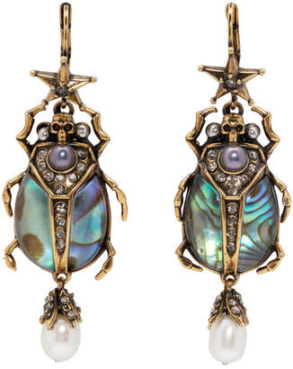 Alexander McQueen Gold Beetle Earrings