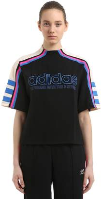 adidas Og Logo Printed Cropped Techno Top