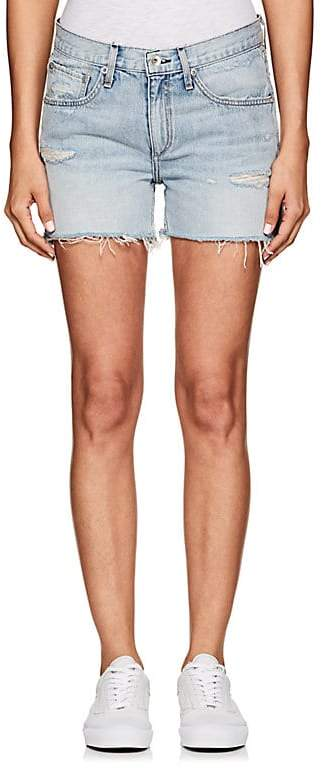 Women's Distressed Denim Boyfriend Shorts