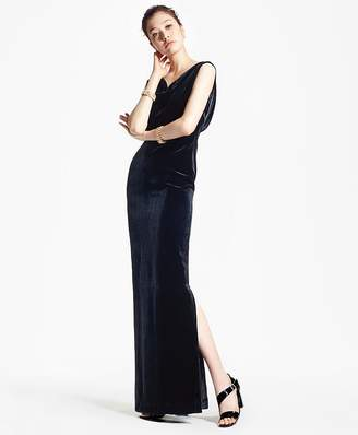 Sleeveless Silk-Blend and Velvet Evening Gown $498 thestylecure.com