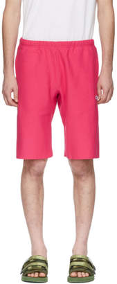 Champion Reverse Weave Pink Fleece Bermuda Shorts