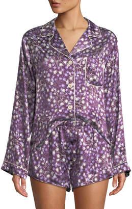 Morgan Lane Dandelion Jayne Silk Pajama Top