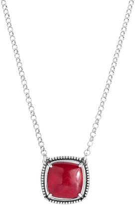 American West Sterling Reversible Gemstone Pendant Necklace