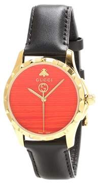 Gucci G-Timeless Le Marché Des Merveilles 38mm leather watch