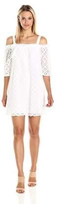 BCBGeneration Women's White Off Shoulder Dress