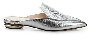 Nicholas Kirkwood Women's Beya Metallic Leather Flat Mules