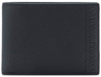 Emporio Armani logo bi-fold wallet